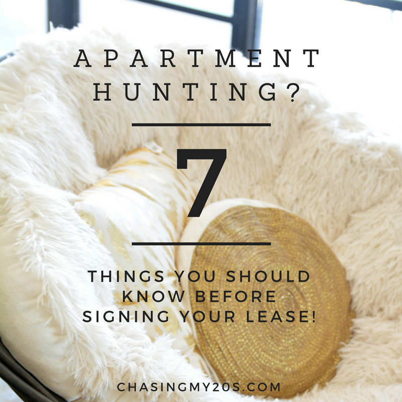 Apartment Hunting? | Consider These 7 Things Before Signing Your First Lease